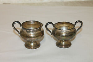 Vintage Frank M Whiting Sterling Silver Sugar And Creamer Set