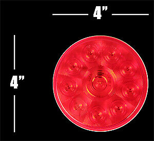 12 4 Stop tail turn Led Trailer Boat Rv Truck Lights