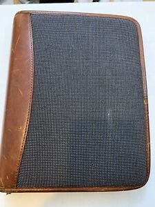 Franklin Covey Riverwood Propex 7 Ring Binder Planner Leather Trim Pre owned