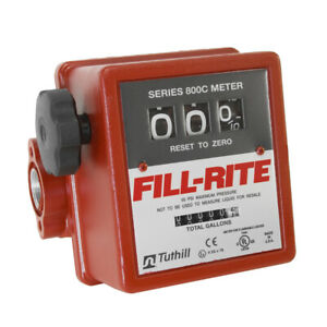 Fill rite 3 wheel Mechanical 1 In 1 Out Meter 5 20 Gpm 50 Psi 807c1