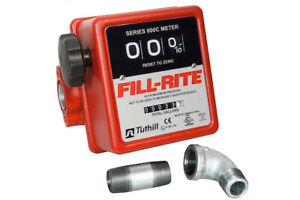 Fill rite 3 wheel Mechanical 3 4 In 3 4 Out Meter 5 20 Gpm 50 Psi 807cmk