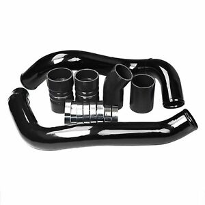 For 03 07 Ford 6 0l Powerstroke Black Turbo Intercooler Pipe Boot Kit Cac Tubes