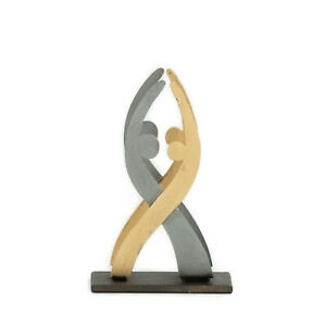Modern Handmade Metal Business Card Holder Dancing Couple Figures Design 4 3