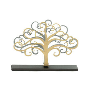 Elegant Handmade Metal Business Card Holder Tree Of Life Figure 4 7 12cm