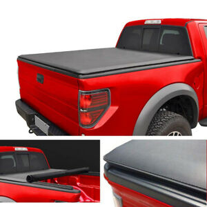 For 2007 21 Toyota Tundra W crew Max Cab 5 5 Feet 66 Soft Roll Up Tonneau Cover