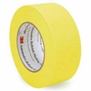 3m 06656 Crepe Paper Automotive Refinish Masking Tape 1 1 2 Inch 6 Pack Yellow