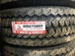 Windpower Wgc28 385 65r22 5 Wide Base Steer Tire 20 Ply 1 Lot Of 2 Tires