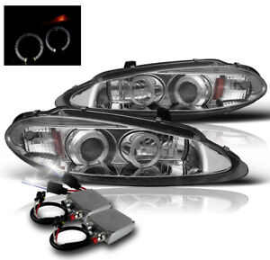 1998 2004 Dodge Intrepid Sedan Chrome Halo Projector Headlights 50w 6k Xenon Hid