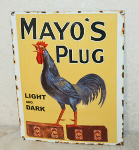 Mayo s Plug Tobacco Porcelain Signs Vintage Style Country Store Advertising