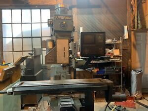 Supermax Ycm16vs Cnc Mill Millling Machine Anilam Crusader Controls 30 Taper