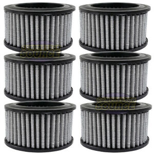 6 Pack Air Compressor Intake Filter Polyester Element With Pre Filter Ap425 15p