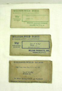 Lot 3 Vintage New Old Stock Willson weld Glass Welding Lenses Shade 10 11 12