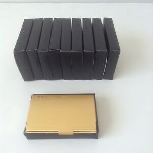 Lot Of 10 Pc Corporate And Promotional Engravable Executive Business Card Case