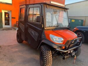 Enclosed Cab 2012 Kubota Rtv1100 Hydrostatic Dump 4x4 Eps Radio 644 Hours