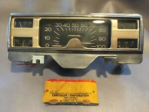 1946 1947 1948 Desoto Instrument Speedo Cluster Fuel Oil Amp Gauge Dash Panel