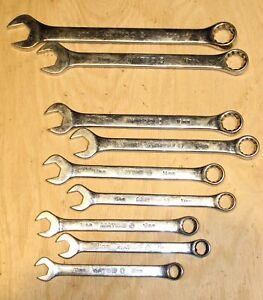 Matco Tools Metric Combination Wrench Set 10mm 19mm Standard Length