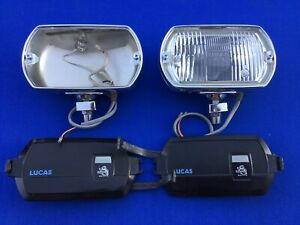 Lucas Square 8 Fog Lights Lamps Chrome Mustang Shelby Cobra Gt40 Ft Lr 8