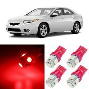 16 X Ultra Red Interior Led Lights Package For 2009 2014 Acura Tsx Tool