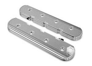 Holley 241 131 Vintage Series Finned Ls Valve Covers Standard Height Polished
