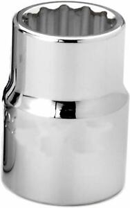 3 4 Drive Shallow 12 Point Sockets Metric High Polished Chrome Finish Williams