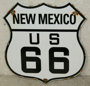 New Mexico Us Route 66 Vintage Style Porcelain Highway Signs Man Cave Station