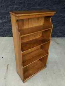 Vintage J B Van Sciver Co Solid Maple Cushman Colonial Book Shelf Bookcase