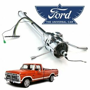 33 Chrome Tilt Steering Column Shift Fits 1967 79 Ford F 150 Truck Ranch
