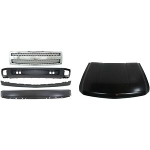 Bumper Grille Assembly Hood For 2007 2013 Chevrolet Silverado 1500 Front Kit