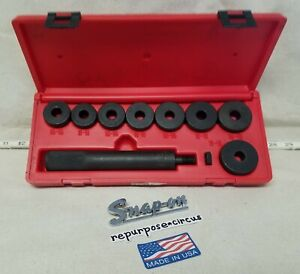 Snap On Usa A158b 10 Piece Havy Duty Bushing Driver Set With Hard Plastic Case