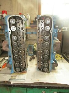 Pontiac 400 455 Pair Cylinder Heads 4x 1h 112 Cc Screw In Studs