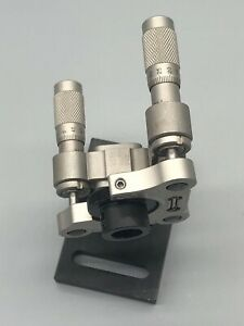Newport Translation Stage With Dual Axes Micrometers 1 29 07