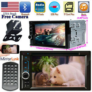 For 2004 2016 Ford F150 250 350 450 550 2 Din Cd dvd Usb Radio Stereo hd Camera