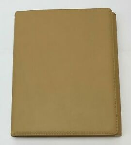 Levenger Standard Tri fold Portfolio Camel Color With Freeleaf Note Pad