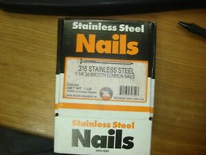 Stainless Steel 1 1 4 3d 316ss Smooth Common Nails 1lb