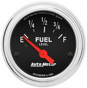 Autometer 2 1 16 Air Core Fuel Level Gauge 0 90 Ohm For Chevy Gm 2514