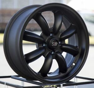 16x7 Rota Rb 4x114 3 22 Flat Black Wheels set Of 4