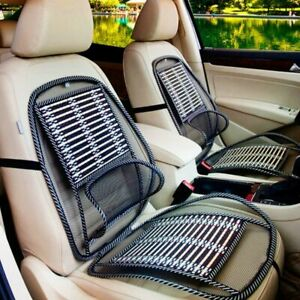 Breathable Car Seat Cooling Lumbar Universal Massage Cushion Wire Bamboo Pad New