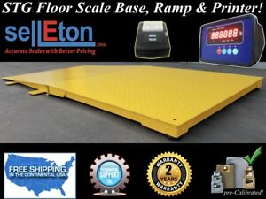 Industrial 60 X 60 Floor Scale With Ramp 10 000 Lbs X 1 Lb Printer Pallet