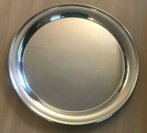 Paul Revere Silver Plate Serving Tray Round 12 5