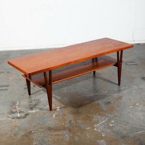 Mid Century Danish Modern Coffee Table Surfboard Shelf Teak Kurt Ostervig Jason