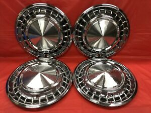 Vintage Set Of 4 1958 Plymouth 14 Hubcaps Belvedere Fury