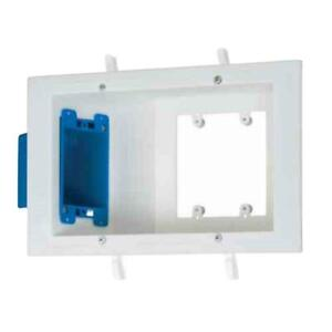 Carlon Sc300pr Flat Panel Tv Electrical Box White Flush Mount Nib Free Shipping