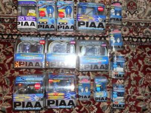 Piaa Auto Headlight Bulbs H4 9006 9004 9005 Lot Of 14 Packages 12 Volt
