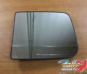 2011 2015 Dodge Ram Left Side View Tow Mirror Heated Replacement Glass New Oem