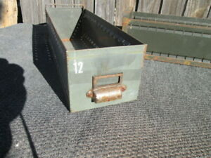 Vintage Metal Drawers Industrial Storage 17 5 5 Army Green u Pick Quantity