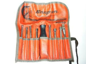 Snap On Nd190 Nut Driver Kit Set Interchangeable Blade 6 Point 9pcs W Bag Pouch