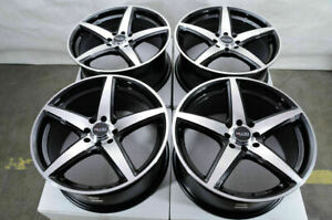 17 Wheels Vw Jetta Passat Corolla Esteem Aerio Fortwo Civic Black Rims 4 Lugs