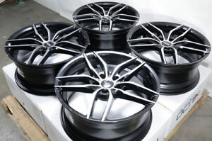 18 Wheels Vw Beetle Golf Gti Jetta Passat Honda Accord Civic Black Rims 5x114 3