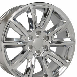 20 Chrome 5696 Wheels Fits Silverado Tahoe Yukon Escalade Sierra