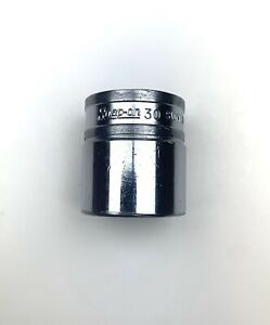 Snap on Tools 1 2 Drive 30mm Metric 12 Point Shallow Chrome Socket Swm301 30 Mm
